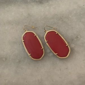 Kendra Scott Jewelry - Kendra Scott Red and Gold Earrings with Bag